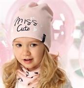 .AJS комплект 40-071L шапка двухсторония одинарный трикотах + снуд (р.52-54)