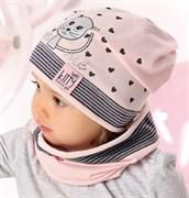 .AJS комплект 40-037M шапка одинарный трикотаж + снуд (р.48-50)