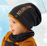 .AJS комплект 40-204M шапка одинарн.трикотаж + снуд (р.48-50)