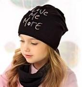 .AJS комплект 40-162L шапка одинарн.трикотаж + снуд (р.52-54)