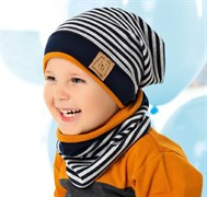 .AJS комплект 40-112M шапка одинарный трикотаж + снуд (р.48-50)