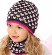 .AJS комплект 40-083 шапка одинарная вязка + снуд (р.52-54)