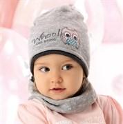 .AJS комплект 40-034 шапка одинарная вязка + снуд (р.48-50)