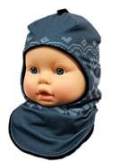 ambra шлем Олени для мальчика подклад флис (р.48-50)