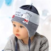 .AJS комплект 40-023 шапка вязка подклад хлопок (р.40-42)