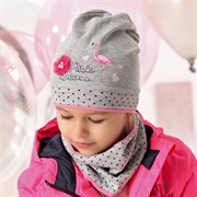 .AJS комплект 40-096M шапка одинарный трикотаж + снуд (р.48-50)