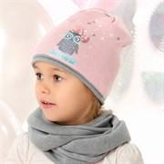 .AJS шапка 40-082 двойная вязка (р.48-50)