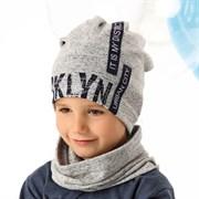 .AJS комплект 40-212L шапка одинарн.трикотаж + снуд (р.52-54)