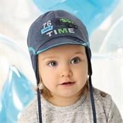 .AJS шапка с козырьком 40-101M двойной трикотаж (р.48-50)