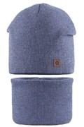 AGBO комплект 2101 Hegon шапка вязка, х/б подкл.+снуд (р.52-54)