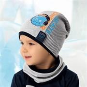 .AJS комплект 40-111L шапка одинарный трикотаж + снуд (р.52-54)