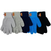 Теплыши перчатки TG-068 одинарная вязка (р. 14/5-6 лет)