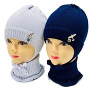 LAMIR комплект MU 20/10 шапка на хлопке + манишка (р.44-46)