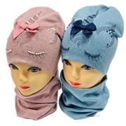 LAMIR комплект Единорожка 1 шапка двойной трикотаж + снуд (р.52-54)