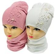LAMIR комплект Джанна шапка двойной трикотаж + снуд (р.52-54)