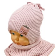 LAMIR комплект Нежность2 шапка на хлопке + снуд (р.48-50)