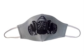 маска двухслойная, с резинкой - противогаз