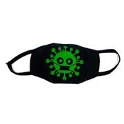 маска на лицо (трикотажная двухслойная) рисунок-вирус