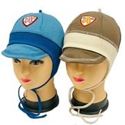 Witmar шапка-кепка одинарный трикотаж с завязками (р.50-52)