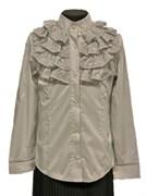 блузка ЛЮТИК модель 20159 длинный рукав, серый (рост128,134,140,146,152)