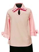 AGATKA блузка рукав 3/4, розовая (р.134-164)