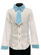 блузка ЛЮТИК модель 20146 длинный рукав, галстук ,белая (рост140-164)