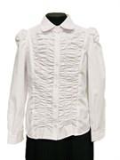 MAGICjunior модель 067 блузка длинный рукав, белая (р-ры:128-158)