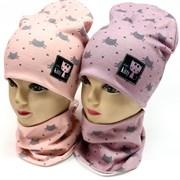 ambra комплект шапка двойной трикотаж + снуд (р.50-54)