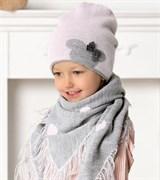 .AJS комплект 40-445 шапка+платок двойная вязка (р.52-54)