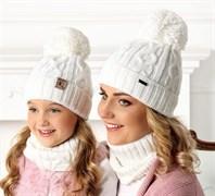 .AJS комплект 40-620 шапка подклад флис + снуд (р.52-54)