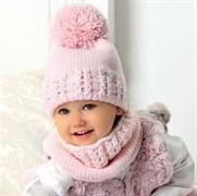 .AJS комплект 40-418 шапка двойная вязка + снуд (р.50-52)
