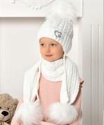.AJS комплект 40-442 шапка подклад флис + шарф (р.50-52)