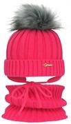GRANS комплект A 808 ST шапка с утеплителем, подклад хлопок + снуд (р.50-52)