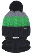 Grans комплект A 1105 ST шапка с утеплителем, подклад хлопок+снуд (р.46-48)