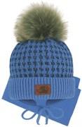 Grans комплект A 1097 ST шапка с утеплителем, подклад хлопок+шарф (р.42-44)