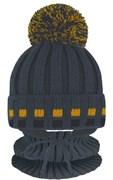 Grans комплект A 1102 ST шапка с утеплителем, подклад хлопок+снуд (р.46-48)