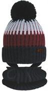 GRANS комплект  A 1119 ST шапка вязаная с утеплителем+снуд (р.50-52)