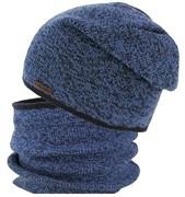 GRANS комплект K 479 ACR шапка вязаная, подклад хлопок+ снуд (р.52-54)
