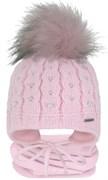 GRANS комплект A 1030 ST шапка с утеплителем, подклад хлопок + снуд (р.42-44)