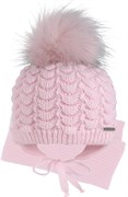 GRANS комплект A 932 ST шапка с утеплителем, подклад хлопок + шарф (р.42-44)