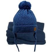 GRANS комплект  A 903 ST шапка с утеплителем, подклад хлопок+снуд (р.44-46)