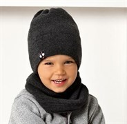 .AJS комплект 40-467 шапка двойная вязка+снуд двухсторонняя (р.50-52)