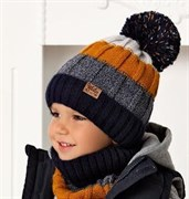 .AJS комплект 40-468 шапка на флисе+снуд (р.52-54)