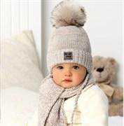 .AJS комплект 40-409 шапка на флисе+шарф (р.40-42)