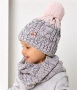 .AJS комплект 40-449 шапка на флисе +снуд восьмеркой (р.50-52)