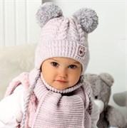 .AJS комплект 40-417 шапка на флисе +шарф (р.44-46)