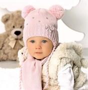 .AJS комплект 40-401 шапка на флисе +шарф (р.44-46)