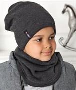 .AJS комплект 40-569 шапка двухсторонняя +снуд (р.54-56)