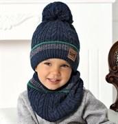 .AJS комплект 40-524 шапка на флисе +снуд (р.50-52)