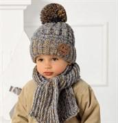 .AJS комплект 40-461 шапка на флисе +шарф (р.52-54)